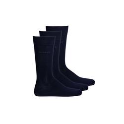 Gant Kurzsocken Herren Socken, 3er Pack - Soft Cotton Socks, blau