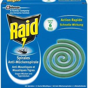 Raid Mückenspirale Anti-Mückenspirale, mit Halterung, 10 Stück