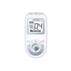 Sanitas TENS-EMS-Gerät SEM 43 Digitales EMS/TENS Reizstrom Gerät, (Set, 7-tlg), 3-in-1-Gerät zur Schmerztherapie, Muskelkräftigung und Massage