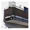 Dynamic24 dynamic24 Balkonsichtschutz Polyrattan PVC Sichtschutzmatte 300x100 Balkon Sichtschutz Zaun Windschutz