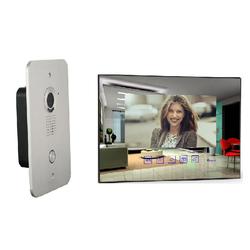 4 Draht Video Türsprechanlage mit 7 Zoll Spiegel Monitor (spiegel)