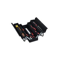 relaxdays Werkzeugkoffer Werkzeugkoffer leer schwarz