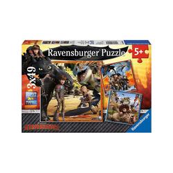 Ravensburger Puzzle 3er Set Puzzle Dragons - Die Babyzeit, je 49, Puzzleteile