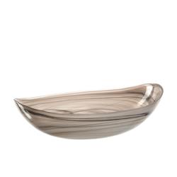 Glas Koch Schale Alabastro in beige, 32 x 22 cm
