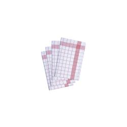 Karlowsky Geschirrtuch, 50 x 70 cm, Geschirrtuch aus 100 % Baumwolle, 1 Packung = 10 Stück, rot
