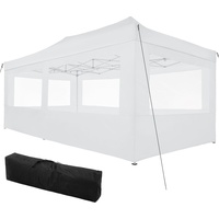 Tectake Faltpavillon 3 x 6 m inkl. Seitenteile weiß