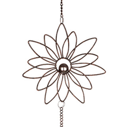 dekojohnson Fensterdekoration Fensterdeko Blüten-Hänger Metall 85 cm Sonnenfänge