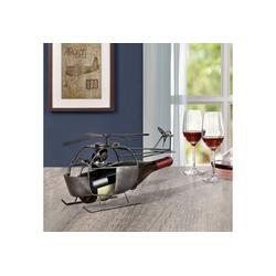 en.casa Weinflaschenhalter, Hubschrauber für Weinflaschen mit Ø 8,5cm (max)