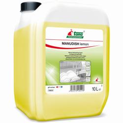 TANA MANUDISH lemon Handgeschirrspülmittel, Universell einsetzbares Handgeschirrspülmittel mit Zitronenduft, 10 l - Kanister