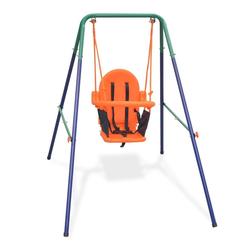 vidaXL Spielturm vidaXL Kleinkinder-Schaukelset mit Sicherheitsgeschirr Orange