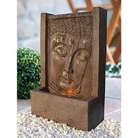 HEISSNER Quellstein Buddha braun