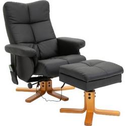 HOMCOM Massagesessel mit Fußhocker 80 x 86 x 99 cm (BxTxH)   TV Sessel Fernsehsessel Relaxsessel mit Hocker