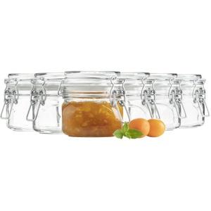 Mäser Gothika, Einmachgläser klein, made in Germany, 6er Set à 300 ml, Glas, transparent