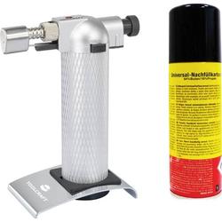 TOOLCRAFT 2183258 Gasbrenner Flambierbrenner Mit Gaskartusche 1300°C 90 min inkl. Gasflasche