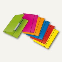Sammelmappe VELOCOLOR®, A4, Karton, 15mm Füllhöhe, 350 g/qm, sort., 6St., 444230