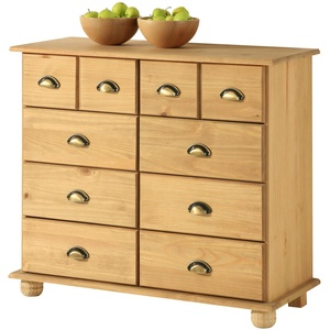 IDIMEX Apothekerkommode Kommode Apothekerschrank Sideboard Colmar, 8 Schubladen, gebeizt/gewachst