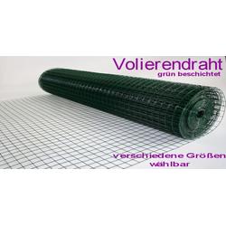 MYPETS Voliere Volierendraht Grün 12 x 12 mm Drahtgitter Verzinkt Drahtzaum Maschendraht Draht Voliere 100 cm x 2500 cm