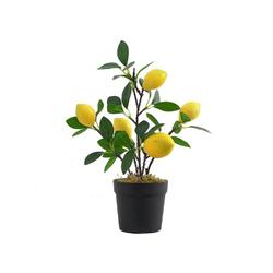 Künstliche Zimmerpflanze, Gotui, Gefälschter Zitronenbaum,Simulation Zitrone Bonsai,Künstlicher Obstbaum,Topfpflanze,Wohnzimmer Ornament