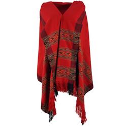 Guru-Shop Halstuch Indischer Schal Stola, Ethno Tuch/Decke - rot rot 100 cm x 200 cm