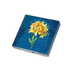 Die Gärten der Künstler Papierservietten Motiv Gelbe Orchidee