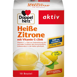 DOPPELHERZ heiße Zitrone Vitamin C+Zink Granulat 10 St.