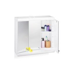 relaxdays Spiegelschrank LED Spiegelschrank mit 3 Türen