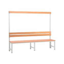 SZ METALL Sitzbank, Sitzbank 2 m, mit Hakenleiste-Garderobe 200 cm x 42 cm x 30 cm