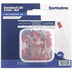 Barthelme LED-Sortiment Rot Rund 3mm 600 mcd 30° 20mA 2V