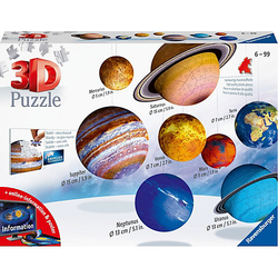 8-tlg. Set 3D-Puzzleball® Planetensystem, Ø5-15 cm, 522 Teile