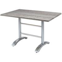 BEST Freizeitmöbel Maestro Klapptisch 120 x 80 x 73 cm silber/Montpellier klappbar