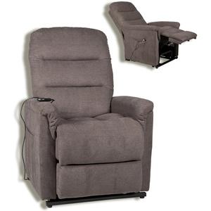 TV-Sessel - graubraun - mit Motor und Aufstehhilfe