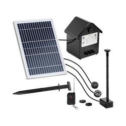 Uniprodo Solar-Springbrunnen - 250 l/h - LED - mit Fernbedienung UNI_PUMP_12