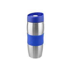 Wellgro Thermobecher Thermobecher 380 ml - Edelstahl - BPA-frei - Isolierbecher - Kaffeebecher, Thermosflasche, Farbe wählbar blau