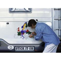 Europa-Aufkleber-Set für für Wohnwagen und Reisemobil