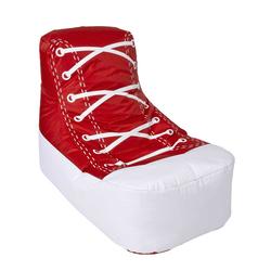 Sitzsack im Sneaker Design Rot Weiß