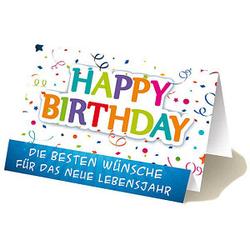 LUMA Geburtstagskarte Party DIN B6
