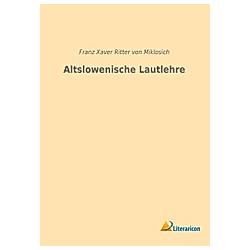 Altslowenische Lautlehre - Buch