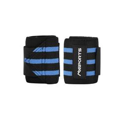 MSports® Hantel Handgelenkbandage 2er Set Handgelenkstütze verstellbare Handbandage für Frauen und Männer geeignet zur wirkungsvollen Unterstützung und Entlastung Handgelenkschoner (Schwarz) blau