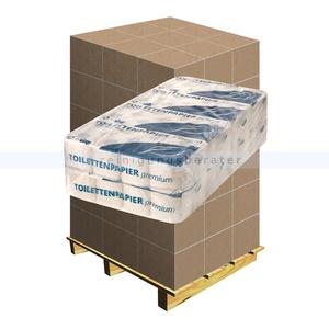 Toilettenpapier 2-lagig Recycling weiß, Palette Palette mit 30 Verpackungseinheiten je 64 Rollen