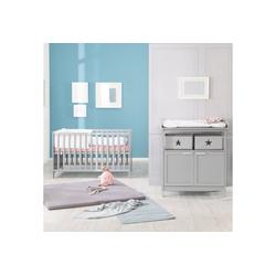 roba® Babymöbel-Set Hamburg, (Spar-Set, 2-St), mit Kinderbett und Wickelkommode mit 2 Türen
