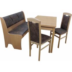 Essgruppe Halle (Set, 4-tlg) beige Essgruppen Tische Sitzmöbel-Sets