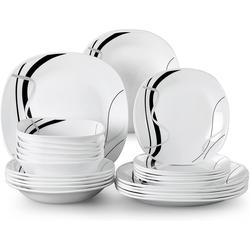 VEWEET Geschirr-Set FIONAGLAS (24-tlg), Opalglas