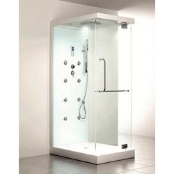 HOME DELUXE Dampfdusche Design M, BxT: 80 x 120 cm, mit Radio und Dampfsauna weiß