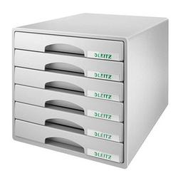 LEITZ Schubladenbox Plus grau DIN A4 mit 6 Schubladen