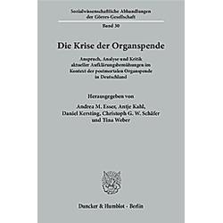 Die Krise der Organspende - Buch