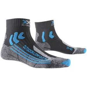 X-Socks Damen Socken Strümpfe TREK OUTDOOR LOW CUT WOMEN SOCKS trekkingsocken wandersocken damen, anthracite/turquoise, 37/38, XS-TS16S19W