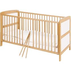 Kinderbett FLORIAN, Ahorn/Creme, 70 x 140 cm weiß