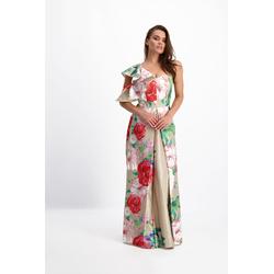 Lavard Langes Kleid mit einem Blumenmotiv 84169