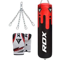 RDX F9 Training Boxsack Mit Tasche Mitts (Größe: 5FT, Farbe: Rot/Schwarz)