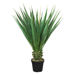 Kunstpflanze Aloe Vera Kunstpflanze Plastikpflanze 120 cm Künstliche Pflanze Decovego, Decovego
